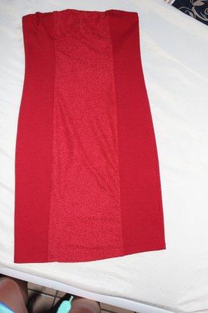 Schönes rotes bequemes Strechtkleid von Amisu, Uni