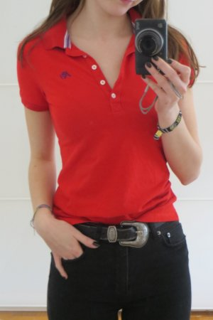 Aeropostale Polo Shirt red