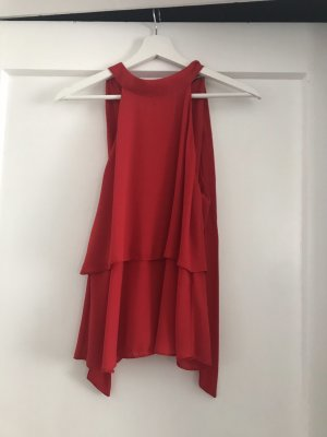 Zara Sleeveless Blouse red