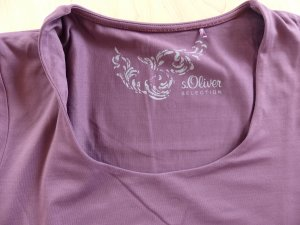 Schönes S.OLIVER SELECTION T-Shirt in aubergine, Gr. 38
