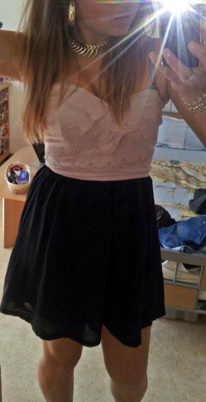 Schönes schwarz beiges Bustier Kleid Gr. S (36/38)