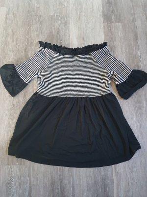 b.p.c. Bonprix Collection Camicia cropped bianco-nero