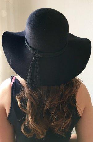 Schönes schwarzer Wolle Hut Glockenhut