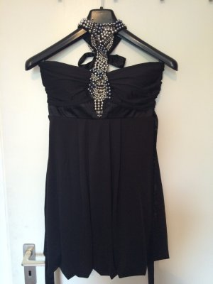 Dress black-silver-colored