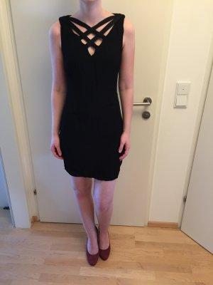 Sheath Dress black viscose