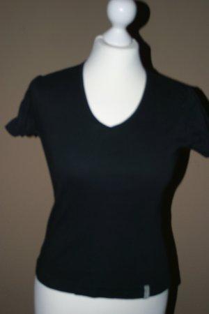 Schönes schwarzes STREET ONE T-shirt mit V-Ausschnitt in Gr. 36