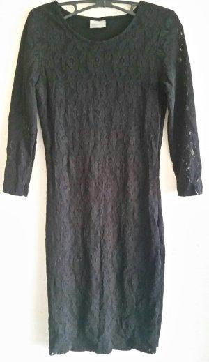 Schönes schwarzes Vero Moda Spitzen Kleid Gr. S