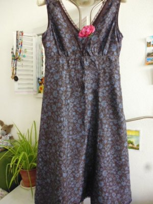 Esprit Tunic Dress brown red-slate-gray silk