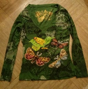 Desigual V-hals shirt veelkleurig