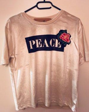 "Schönes Shirt aus Samt ""Peace """