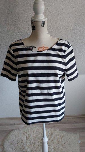 s.Oliver Gestreept shirt wit-donkerblauw