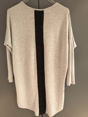 Long Shirt light grey-black viscose