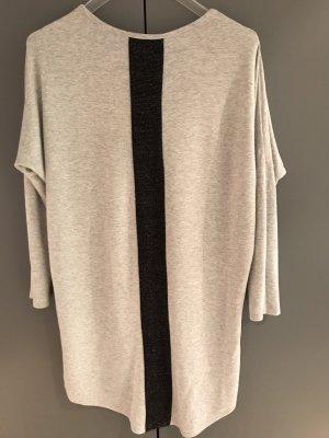 Camicia lunga grigio chiaro-nero Viscosa
