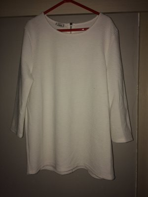Pimkie Ribbed Shirt white-silver-colored