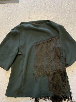 Schönes Shirt Oberteil Fransen von Zara gr.S