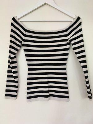 Schönes Shirt off-the-shoulders Streifen von H&M
