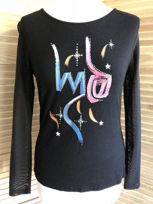 Schönes Shirt, Party Shirt, Abendshirt, schwarz, S.