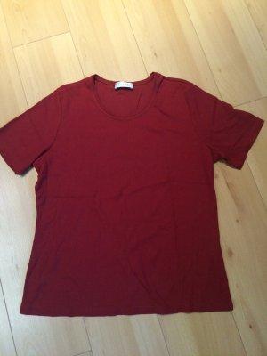 Schönes Shirt rostfarben gerippt Stretch