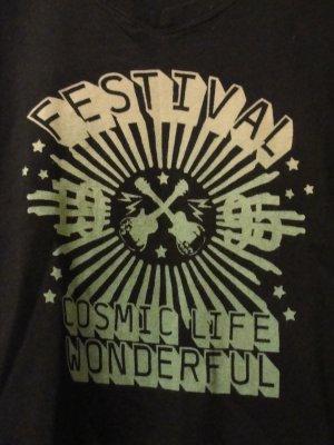 Schönes Shirt, schwarz mit Festival-Motiv, GR M