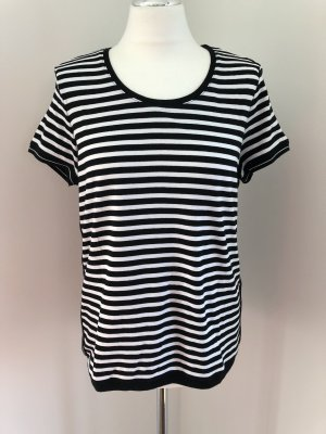 Gerry Weber Gestreept shirt wit-zwart