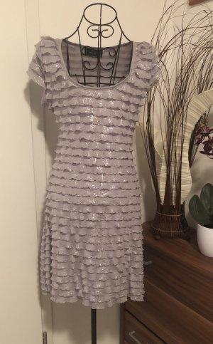 Schönes  Silbergraues Kleid/Gr.M.36-38