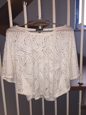 Amisu Crochet Top white