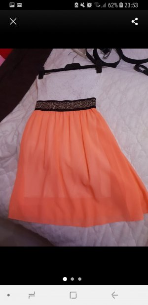 & other stories Off the shoulder jurk wit-licht Oranje