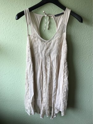 Abercrombie & Fitch Cut Out Dress cream-natural white