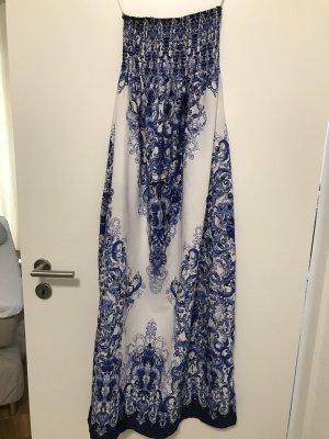 Primark Maxi-jurk wit-blauw