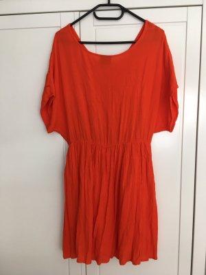 Vero Moda Vestido Hippie naranja oscuro-rojo