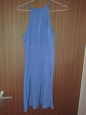 Zara Basic Halter Dress blue polyester