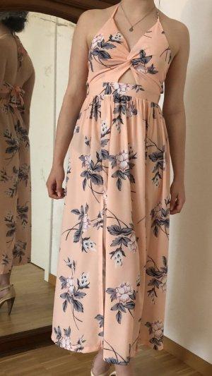 Schönes Sommerkleid Rose apricot raffiniert