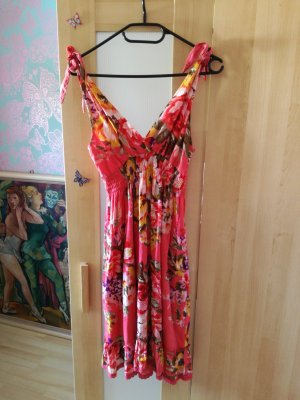 schönes Sommerkleid und Strandkleid mit Schleifen auf der Schulter Größe 36