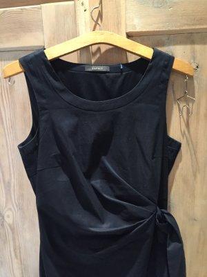 Esprit Sheath Dress dark blue cotton