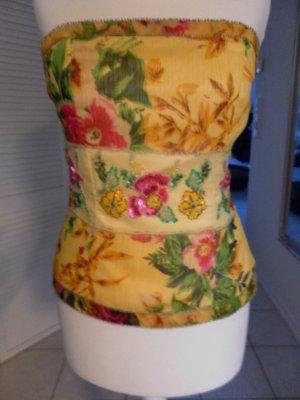 Schönes sommerliches Corsagen-Top von APART - gelb gemustert - Gr. 34