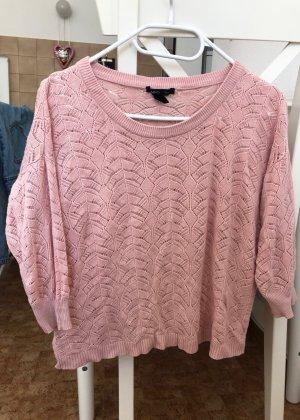 MNG Crochet Shirt pink viscose