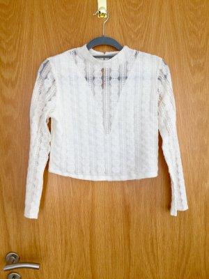 Miss Selfridge V-hals shirt wit