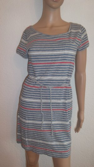 Schönes Streifen-Kleidchen mit Bindeband angenehmes Material