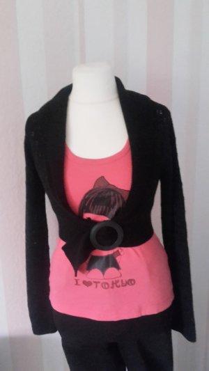 Madonna Boléro en tricot noir