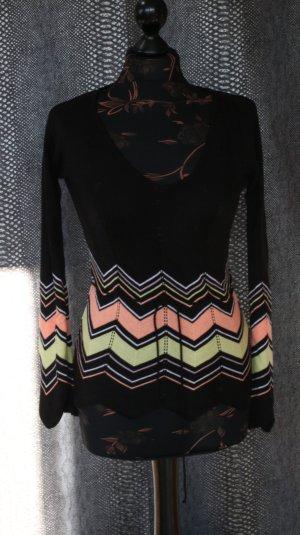 Jersey con cuello de pico multicolor