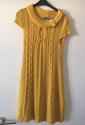 Schönes Strickkleid in gelb Gr. S.