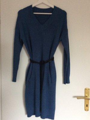 Knitted Dress blue-cornflower blue mixture fibre