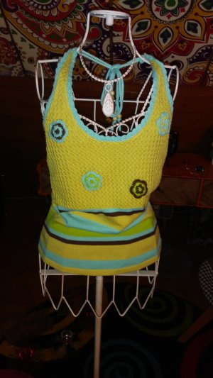 Knitted Top lime yellow