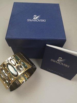 Schönes Swarovski Armband Armspange Armreif gold/silber NEU