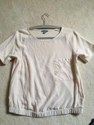 Schönes Sweatshirt Seiden Mix Top in Größe XS von COS