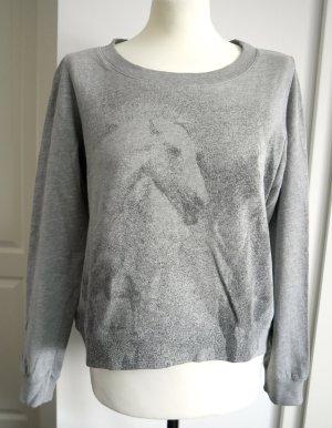 Schönes Sweatshirt von Haute Hippie mit Pferden in grau