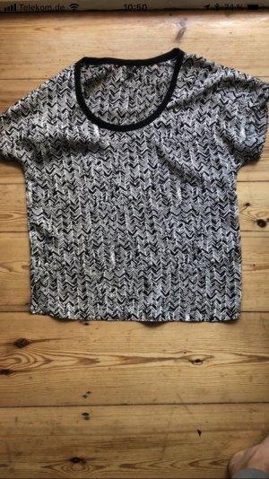 Schönes T-Shirt in schwarz-weiß von H&M / Größe S
