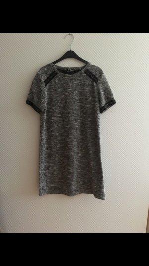 Miss Selfridge T-shirt jurk zwart-grijs