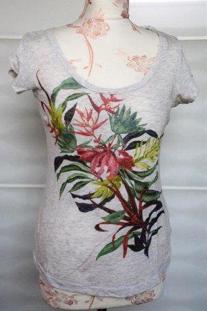 schönes T-Shirt mit Pflanzenprint Dschungelprint Gr. S