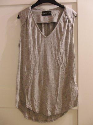 V-Neck Shirt light grey-grey viscose